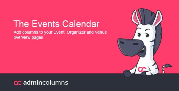 Admin Columns Pro Events Calendar Add-On