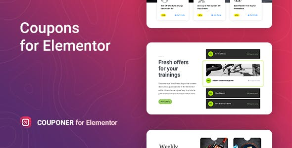 Couponer Discount Coupons For Elementor