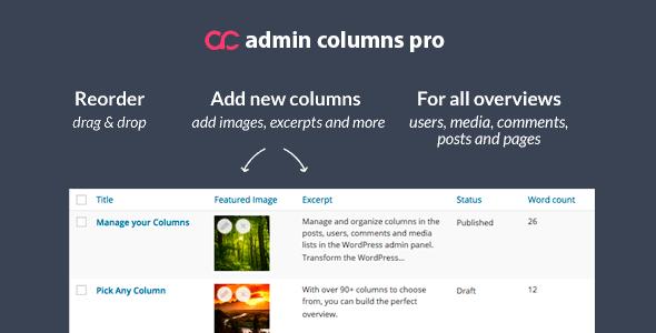 Admin Columns Pro Plugin