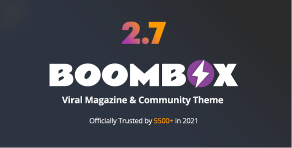 Boombox Viral Magazine Wordpress Theme