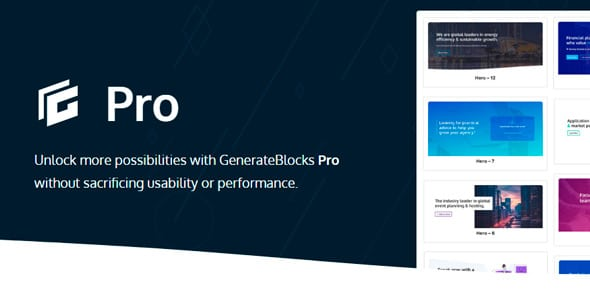 GenerateBlocks Pro Wordpress Plugin