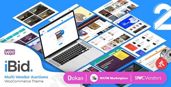 iBid Multi Vendor Auctions Theme
