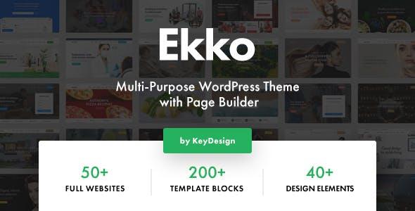 Ekko MultiPurpose Theme and Builder