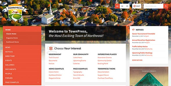 TownPress Municipality WordPress Theme