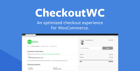 Checkout for WooCommerce Plugin